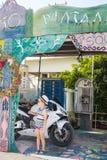 Улица Matala Стоковое Изображение RF
