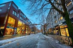 Улица Nordre в Тронхейме, Норвегии стоковое изображение