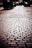 Улица NYC булыжника Стоковые Фото