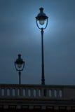 улица paris светильников Стоковое Изображение