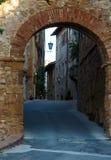 Улица Pienza, Тоскана, Италия Стоковая Фотография RF