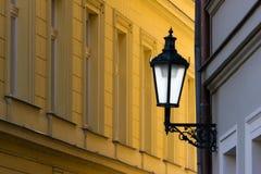 улица prague светильника стоковое фото rf