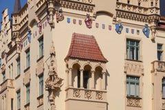 улица prague parizska зданий историческая стоковое изображение