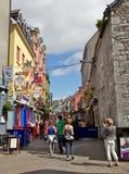 Улица Quay, Galway Стоковые Фото