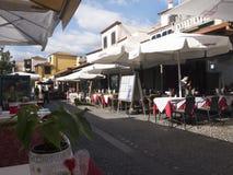 Улица Santa Maria в Фуншале Мадейре Стоковые Изображения