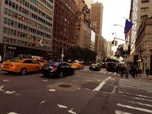 Улица Scence Нью-Йорка стоковая фотография