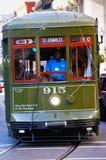 улица st charles New Orleans автомобиля Стоковая Фотография