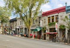 Улица St-Denis, Монреаль Стоковые Изображения RF