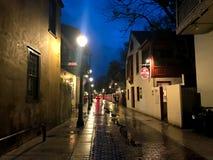 Улица St. George, Августин Блаженный, Флорида стоковые фотографии rf