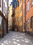 улица stockholm gamla stan Стоковые Фото
