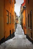 улица stockholm gamla stan Стоковые Фотографии RF
