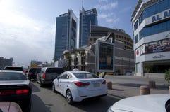 Улица Tahlia в Эр-Рияде, Саудовской Аравии, 01 12 2016 Стоковое фото RF