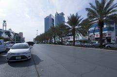 Улица Tahlia в Эр-Рияде, Саудовской Аравии, 01 12 2016 Стоковые Фотографии RF
