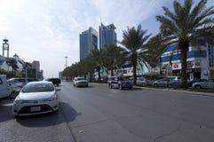 Улица Tahlia в Эр-Рияде, Саудовской Аравии, 01 12 2016 Стоковое Фото