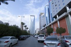 Улица Tahlia в Эр-Рияде, Саудовской Аравии, 01 12 2016 Стоковые Фото