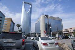 Улица Tahlia в Эр-Рияде, Саудовской Аравии, 01 12 2016 Стоковая Фотография RF