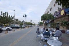 Улица Tahlia в Эр-Рияде, Саудовской Аравии, 01 12 2016 Стоковое Изображение