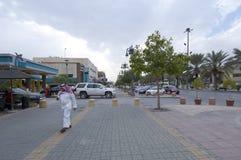 Улица Tahlia в Эр-Рияде, Саудовской Аравии, 01 12 2016 Стоковое Изображение RF