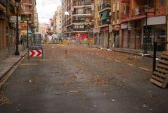 улица valencia fallas Стоковая Фотография RF