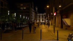 Улица Wroclaw Польша 16-ое сентября 2018 Kuznicza сток-видео