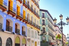 улица zaragoza города i Испания alfonso Стоковые Фото