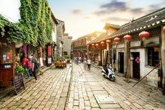 Улица Zhenjiang Xijindu коммерчески стоковые изображения