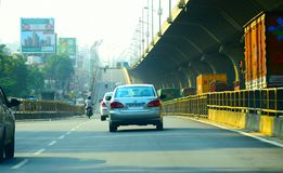 Улицы города Бангалора, неимоверной Индии стоковое изображение
