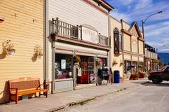 Улицы города Dawson, Юкона стоковые изображения