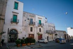 Улицы города trulli Trullo в Италии Стоковое Фото