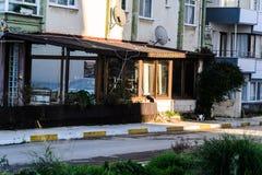 Улицы городка лета в стране Турции Стоковое Фото