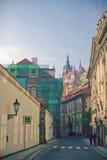 улицы городов европейские рисуночные Стоковые Фотографии RF