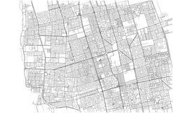 Улицы Джидды, карты города, Саудовской Аравии ashurbanipal иллюстрация штока