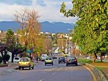 улицы Исламабада, столицы Пакистана стоковые изображения rf