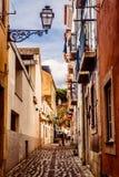 Улицы Лиссабона, Португалии стоковые изображения rf