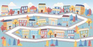 Улицы на красочном городе иллюстрация вектора