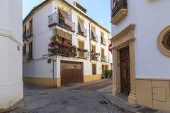 Улицы района San Basilio в Cordoba стоковые фото
