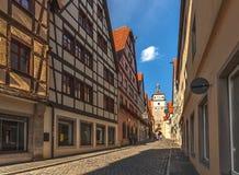 Улицы Ротенбурга-ob-der-Tauber - Германии стоковые изображения rf