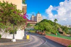 Улицы Сан-Хуана, Пуэрто-Рико и городской пейзаж стоковое фото rf