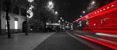 Улицы Сибиу на ноче Стоковые Фото