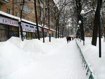 улицы снежностей сугробов moscow Стоковые Фото