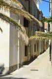 Улицы среднеземноморского города малые Стоковое Изображение