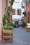 улицы chania старые Стоковые Фотографии RF