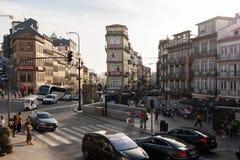 Улицы Invicta, Порту стоковые фотографии rf