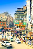 улицы kathmandu стоковая фотография rf