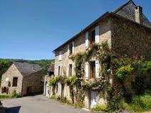Улицы Najac, Франции Живописные назначения стоковое изображение rf
