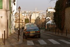 улицы paris montmartre Стоковые Фото