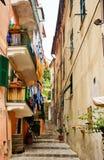 улицы riomaggiore Италии Стоковые Изображения RF
