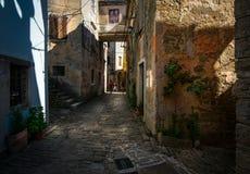 Улицы Rovinj Горячий полдень стоковое фото