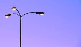 уличные светы сумрака стоковое изображение rf