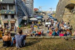 Уличный праздник в Порту - Португалии стоковая фотография rf